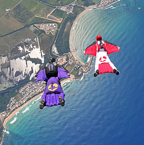 Wingsuit flying and Wingsuit  Base Jumping