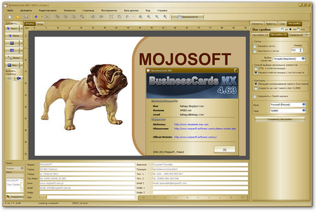 Mojosoft BusinessCards MX 4.63 Portable by Baltagy (2011)