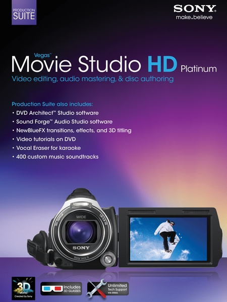 Sony Vegas Movie Studio HD Platinum 11 Production Suite 11.0.322