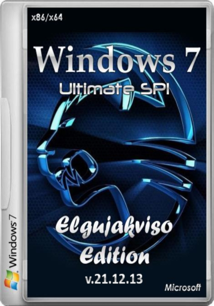 Windows 7 Ultimate SP1 Elgujakviso Edition v.21.12.13 (x86/x64/RUS/2013)