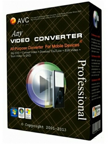 Any Video Converter Professional 5.7.7 (ML/Rus)
