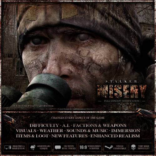 S.T.A.L.K.E.R.: Call of Pripyat / Зов Припяти - MISERY (2014-2016) RUS
