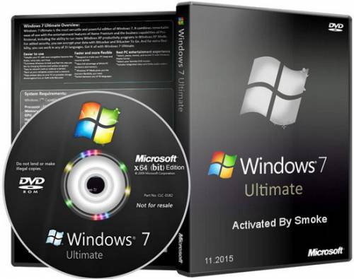 Windows 7 Ultimate x64 Activated By Smoke (RUS/11.2015)