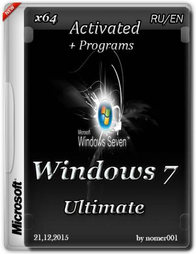 Windows 7 Ultimate SP1 (x64) Activated + Programs (RUS/ENG/2015/by nomer001)