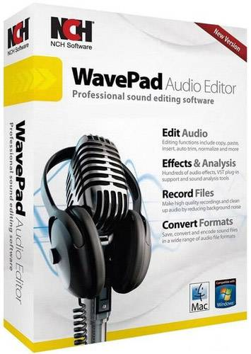 WavePad Sound Editor Masters Edition 8.00 Portable ML/RUS/2018
